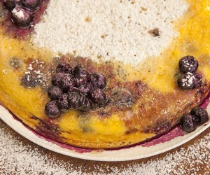 Breakfast Soufflé with Blueberries