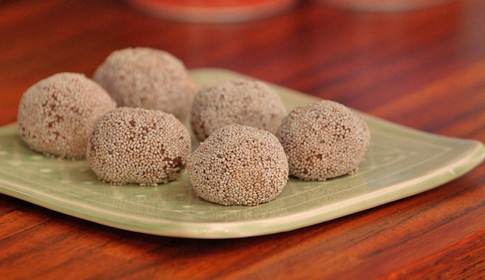 Frozen Mint Cacao Chia Balls