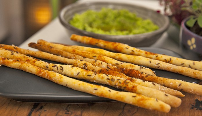 Caraway and Salt Breadsticks