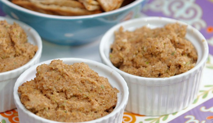 Walnut Pate with Toasted Pita Chips