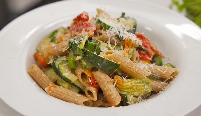 Zucchini, Tomato and Chili Wholemeal Penne