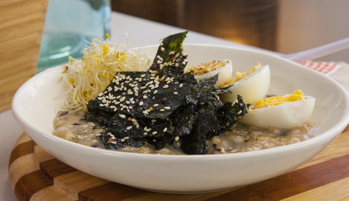 Brown Rice and Seaweed Congee