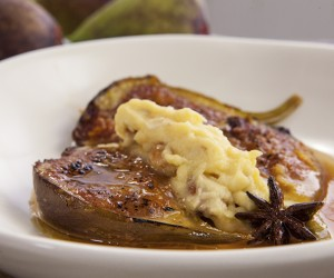 Baked Figs with Ginger Mascarpone