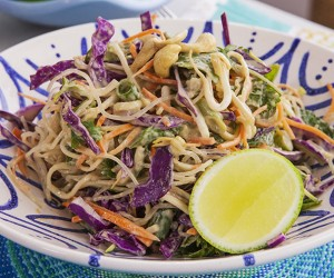 Raw Pad Thai with Kelp Noodles