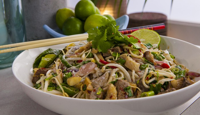 Green Curry Beef Noodles