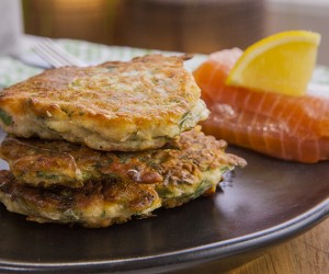 Gluten-Free Salmon and Parmesan Fritters