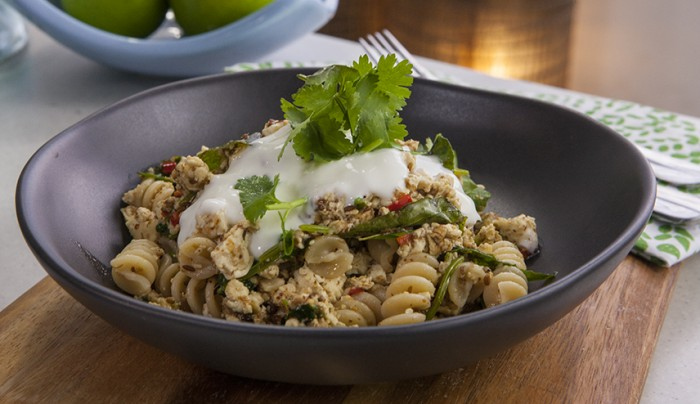 Curry Spiced Spelt Pasta