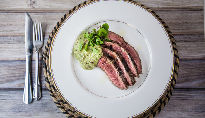 Grilled Flank Steak with Herb Salsa