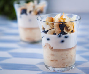 Banana & Coconut Tofu Pudding