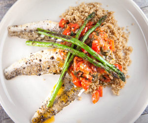 Sauce Vierge with Pan-fried Whiting