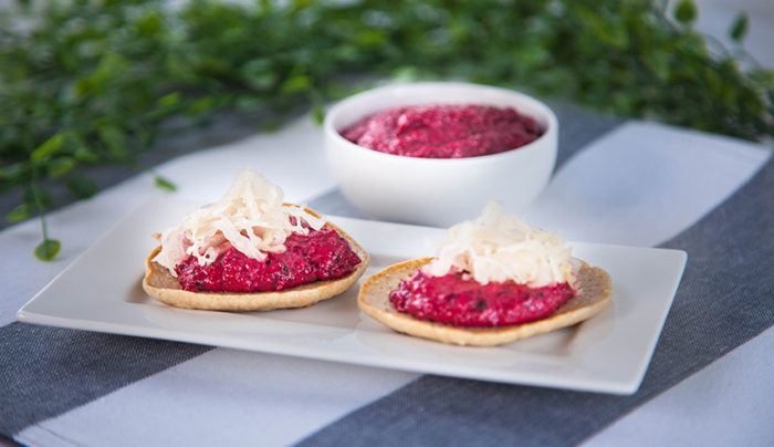 Buckwheat Blinis with Beetroot Dip