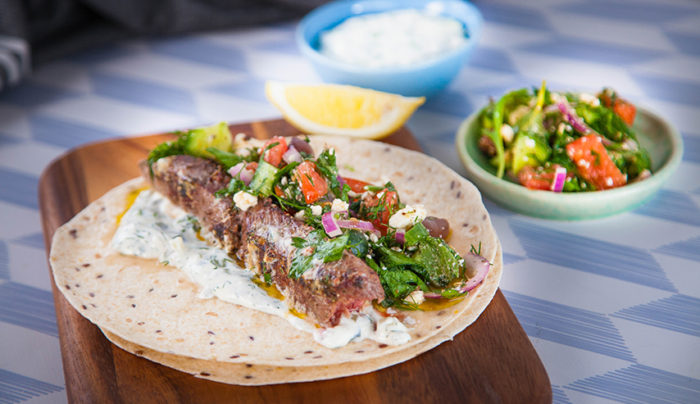 Lamb and Greek Salad Souvlaki