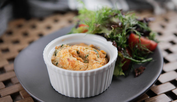 Sweet Potato and Kale Souffle