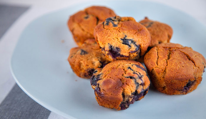 Quinoa and Blueberry Muffins