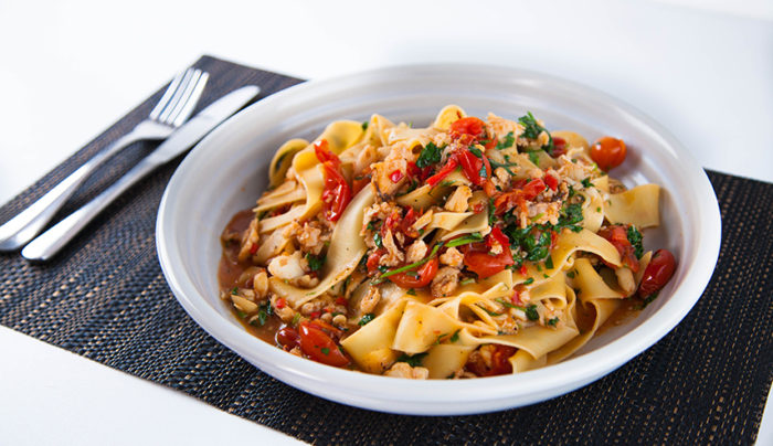 Silky Smooth Crab Pasta