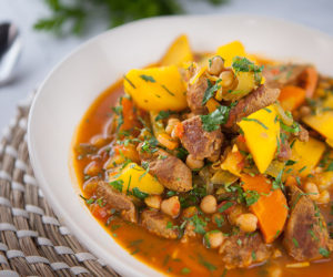 Lamb, Chickpea and Saffron Stew