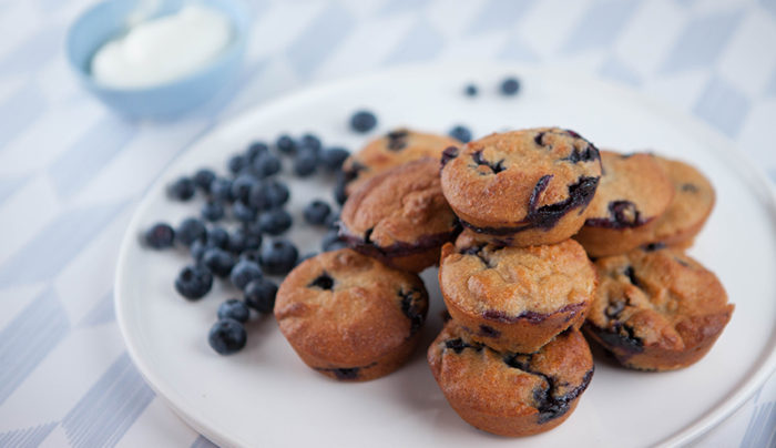 Mini Blueberry Clafoutis