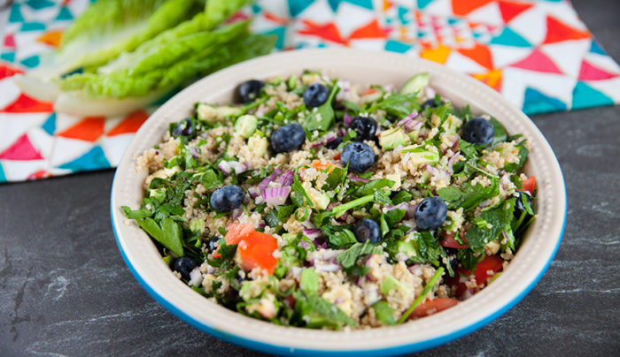 Cos Cuddled Quinoa Blueberry Salad