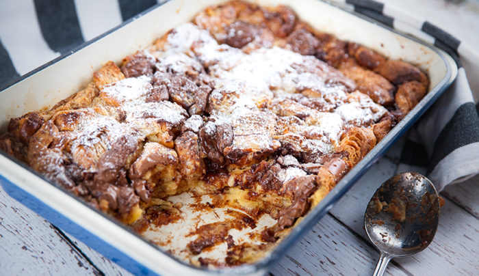 Dark Chocolate Bread & Butter Pudding