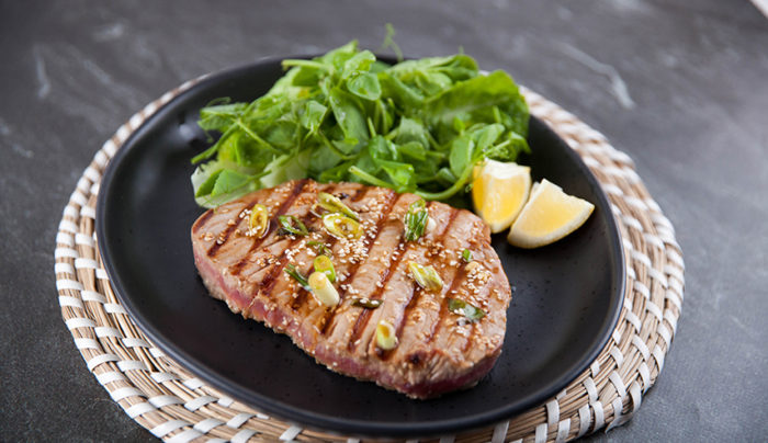 Asian Sesame Marinated Tuna Steak