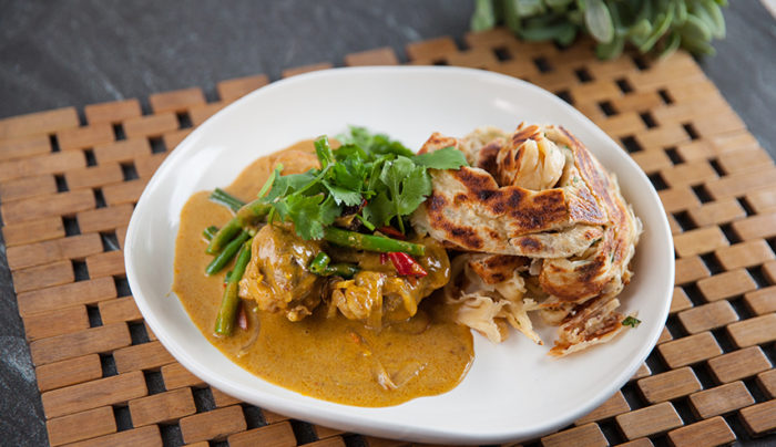 Malaysian Chicken Curry & Roti Canai