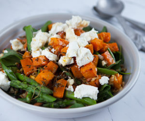 Maple Roasted Butternut Pumpkin and Freekeh Salad