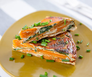 Spinach and Sweet Potato Spanish Tortilla