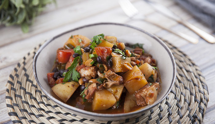 Peruvian Pork & Potato Stew with Peanuts