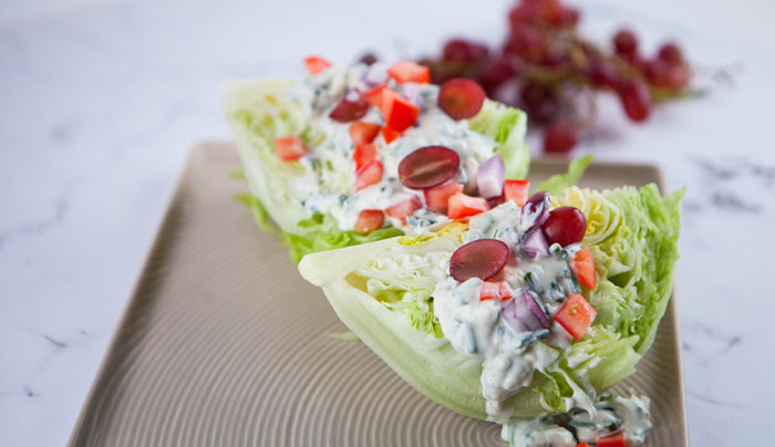 Blue Cheese Lettuce Wedge Salad