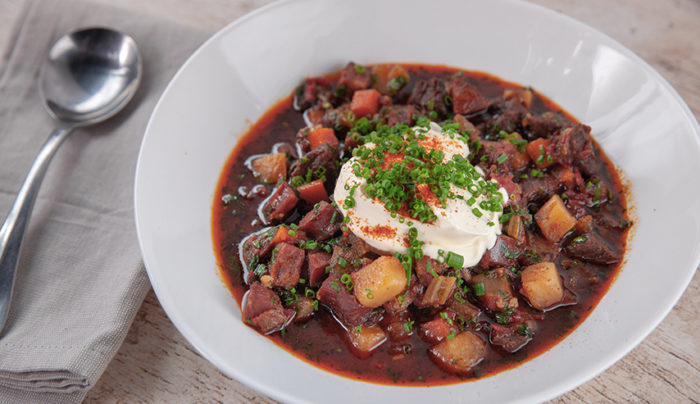 Hungarian Red Potato Goulash
