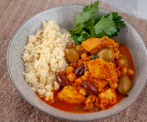 Chicken, Olive and Chickpea Tagine