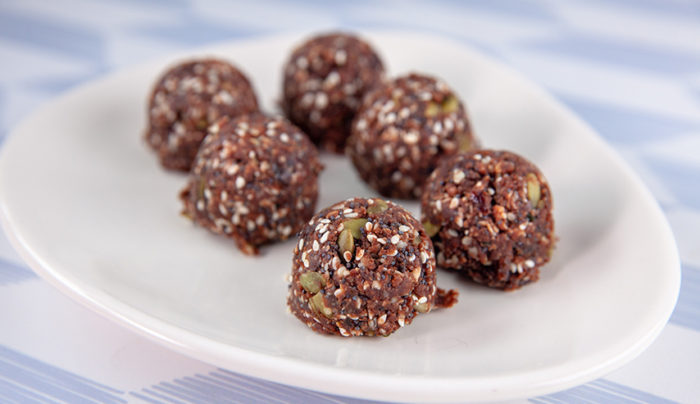 Chocolate Peanut Butter Seed Balls