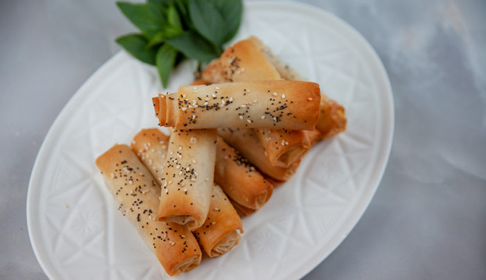 Prawn and Chicken Fillo Rolls