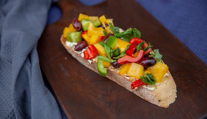 Rainbow Bruschetta