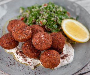 Prawn and Chickpea Falafel with Tabbouleh