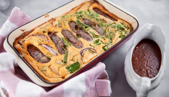 Toad in a Hole with Onion Gravy