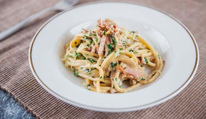 Richo's Bacon and Mushroom Pasta