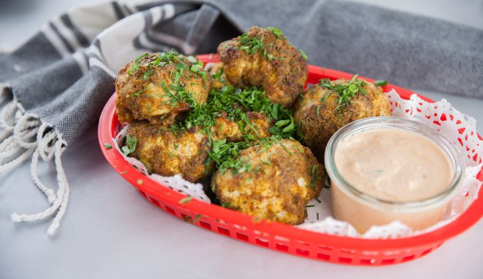 Baked Cauliflower Nuggets with Dipping Sauce