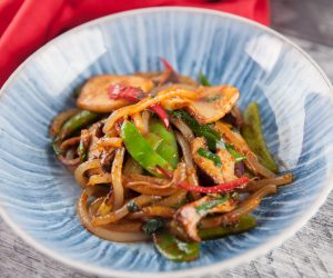 Asian Green Stir Fry with Mushrooms & Chilli