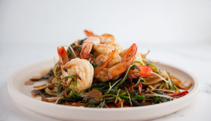 Thai Style Prawns & Vegetable Noodles