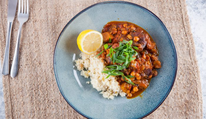 Moroccan Spiced Lamb, Eggplant & Date Tagine