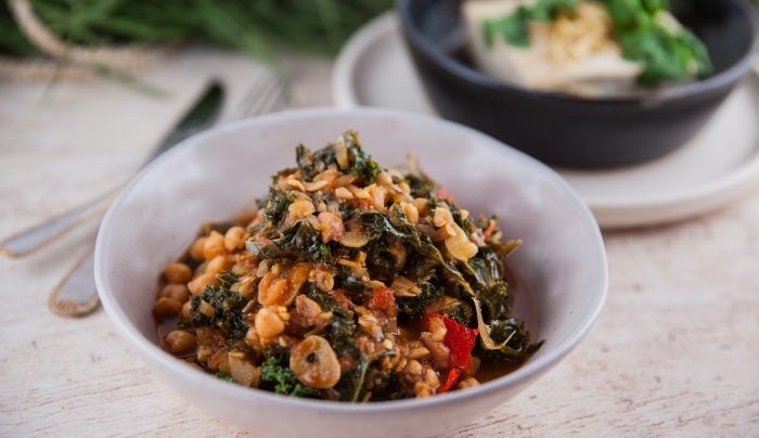 Vegetarian Kale & Chickpea Braise