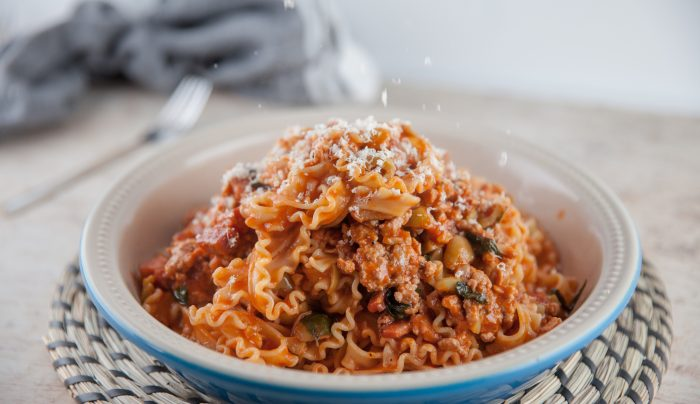 Curly Fettuccine with Pork Ragu