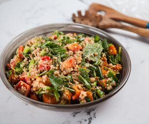Pearl Couscous Salad with Pumpkin & Moroccan Spices