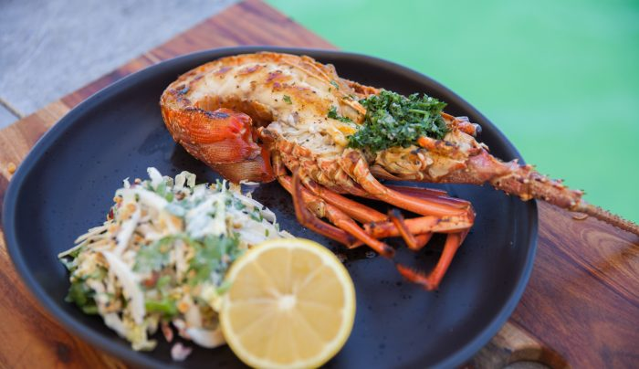 Western Rock Lobster with Herby Garlic Butter