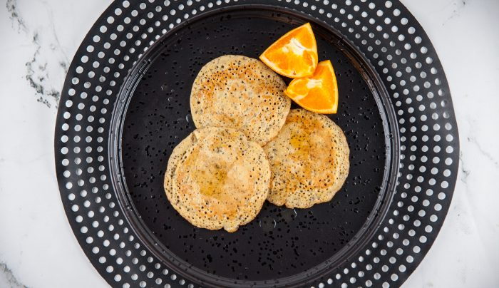 Orange and Poppyseed Wholemeal Pancakes