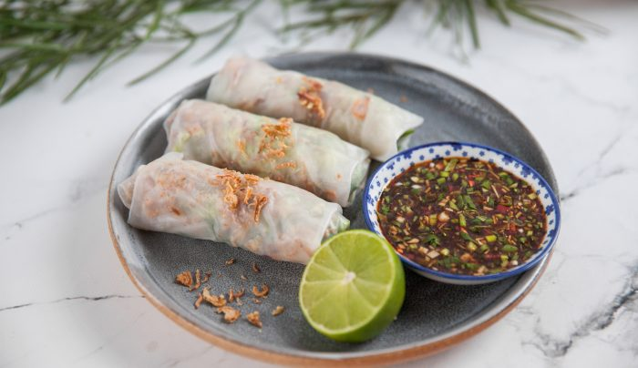 Peking Duck Rice Paper Rolls