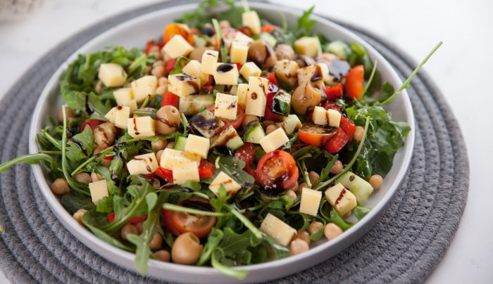 Cheddar Cheese and Chickpea Salad