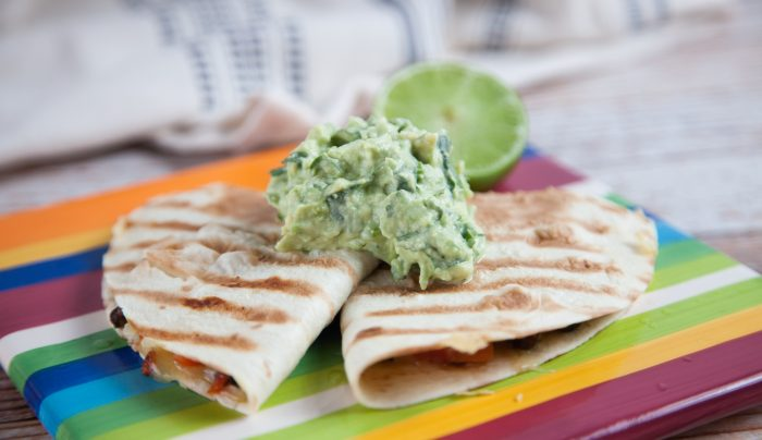 Cheesy Quesadilla with Avo Lime Salsa