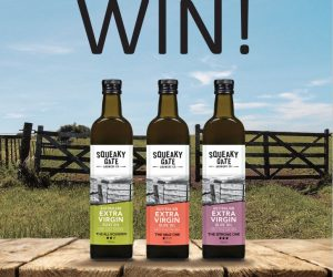 Win a year supply of Squeaky Gate Olive Oil